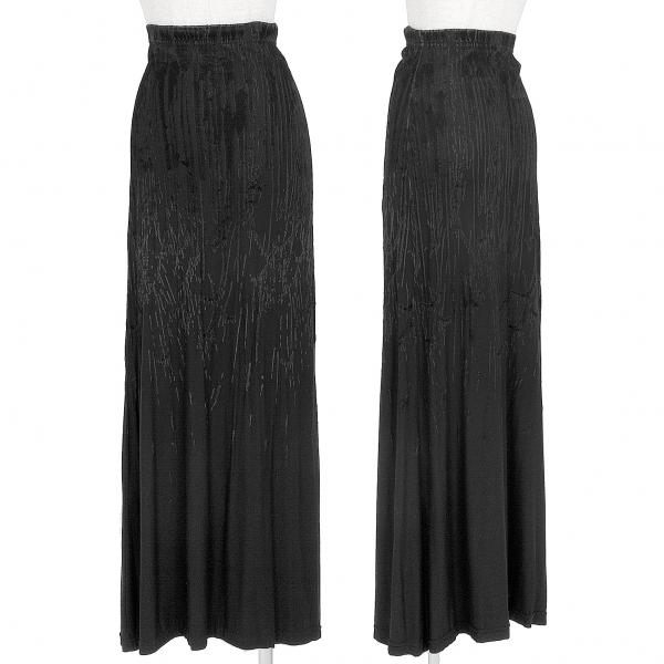 ゴルチエジーンズGAULTIER JEAN'S ベロアフロッキーストレッチスカート 黒L