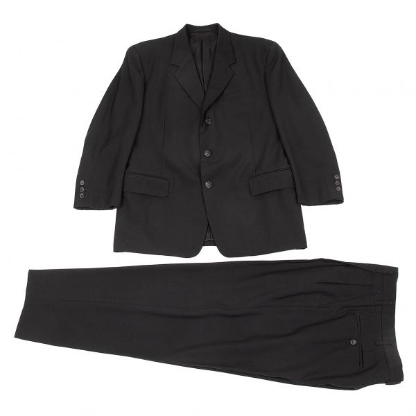 ワイズフォーメンY's for men ウール3Bノッチドラペルセットアップスーツ 黒S