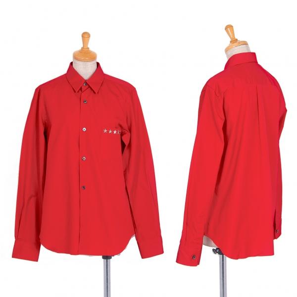 コムデギャルソン ガールCOMME des GARCONS GIRL スタースタッズ長袖シャツ 赤S