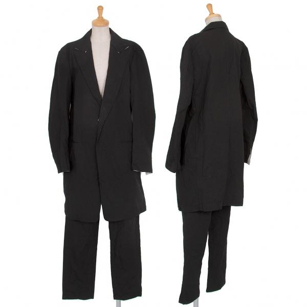 ワイズY's コットンワッシャー加工セットアップスーツ 黒1