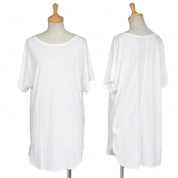 ワイズY's バックリブダーツTシャツ 白2