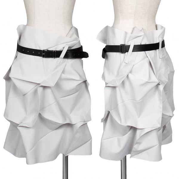 イッセイミヤケISSEY MIYAKE 132 5. 折り紙プレス箔プリントスカート ライトグレー3