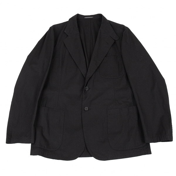 ヨウジヤマモト プールオムYohji Yamamoto POUR HOMME コットンパッチポケットジャケット 黒2