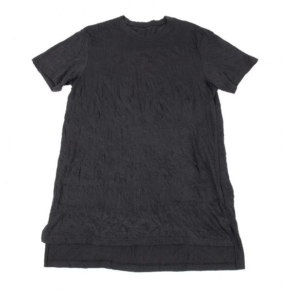 グラウンド ワイGround Y ロング丈シワ加工Tシャツ 黒3