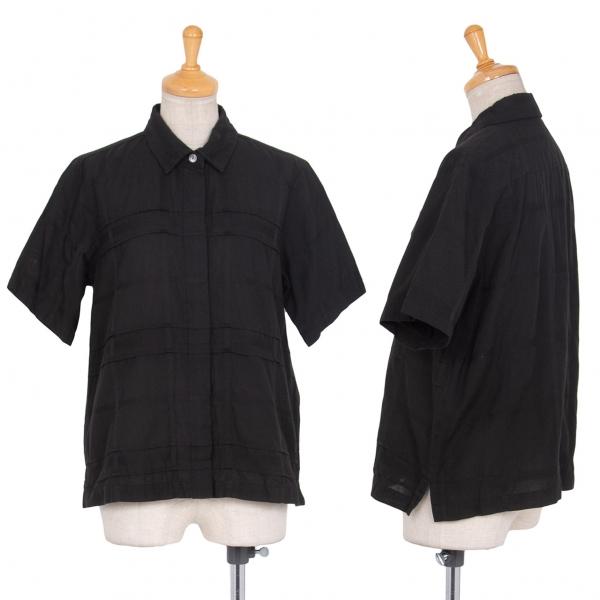 イッセイミヤケ ハートISSEY MIYAKE HaaT 格子デザインコットンシャツ 黒2