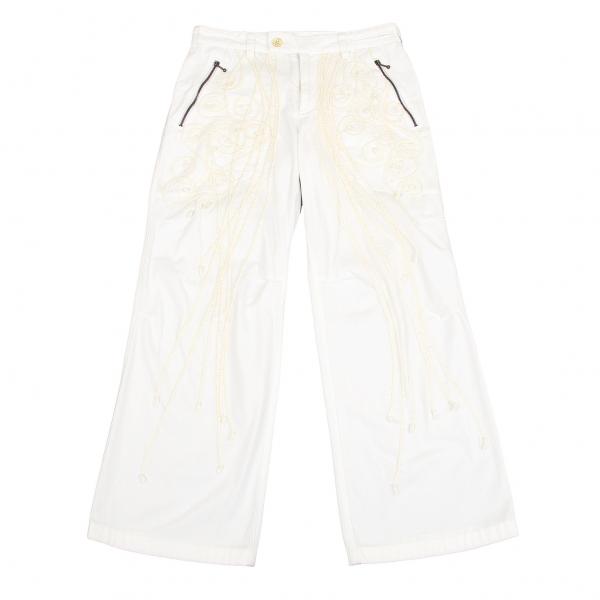 イッセイミヤケ ハートISSEY MIYAKE HaaT ブレード装飾パンツ 白1