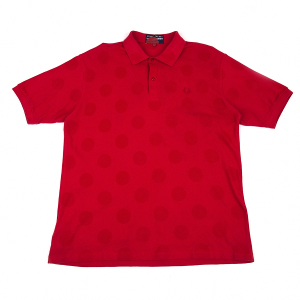 COMME-des-GARCONS-SHIR-x-FRED-PERRY-Dot-Polo-Shirt-Size-XL-K-80296