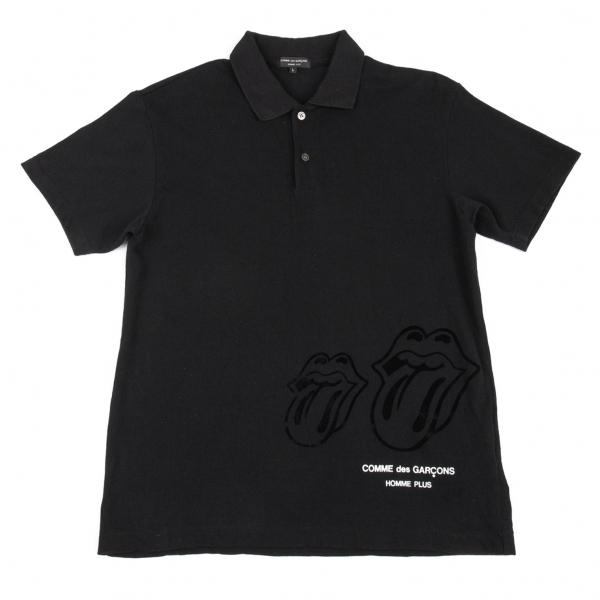 COMME-des-GARCONS-HOMME-PLUS-x-Rolling-Stones-Polo-Shirt-Size-L-K-80325