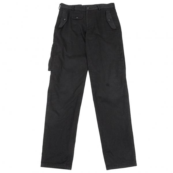 ヨウジヤマモト プールオムYohji Yamamoto POUR HOMME サイドフラップポケットデザインパンツ 黒2