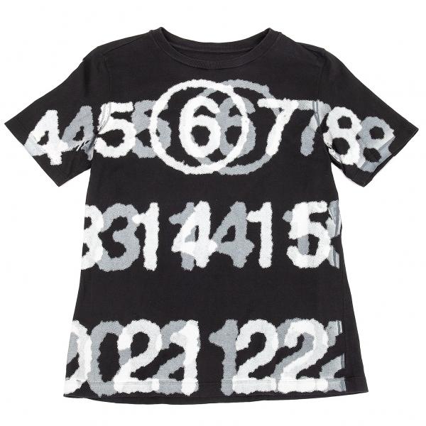 マルタンマルジェラMartin Margiela 6 プリントTシャツ 黒L