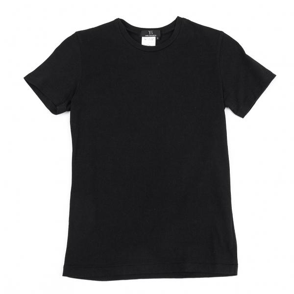 ワイズY's コットン天竺クルーネックTシャツ 黒3