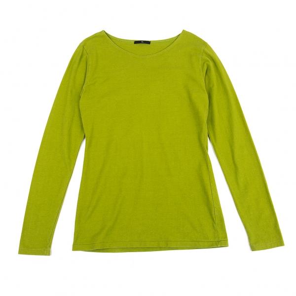 ワイズY's コットン長袖Tシャツ 黄緑M位