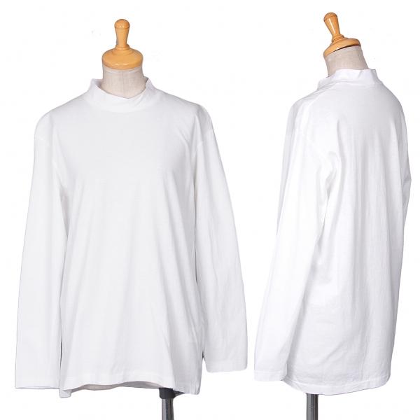 ワイズY's コットンハイネック長袖Tシャツ 白M位