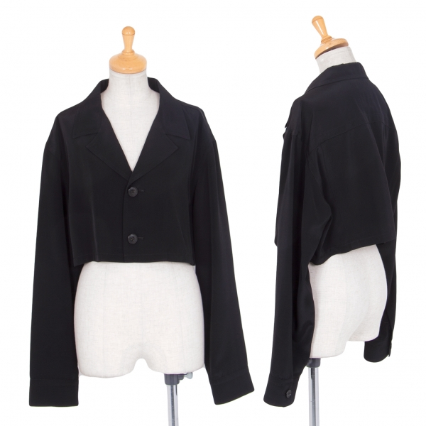 Y's Short Jacket Black S-M