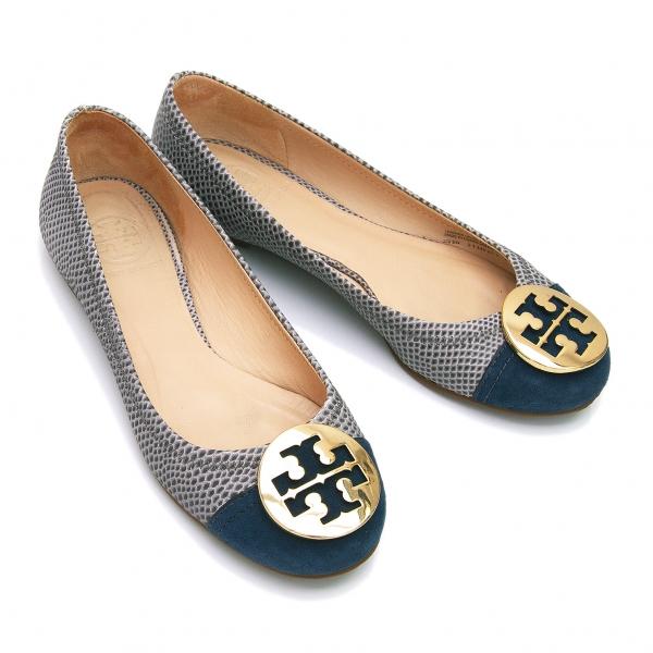 Tory Burch Python Switch Flat Shoes