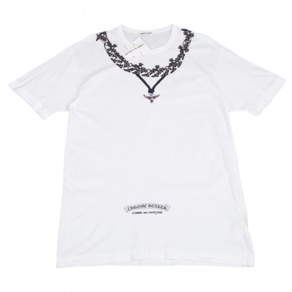 コムデギャルソン×クロムハーツCOMME des GARCONS×CHROME HEARTS 2007年クリスマス限定フォティマハリアプリントTシャツ 白L