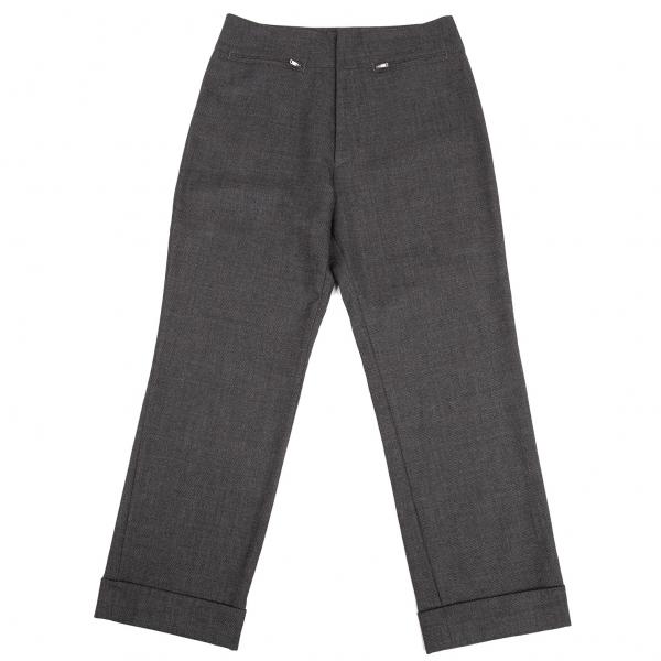 ヨウジヤマモト ノアールYohji Yamamoto NOIR ウールドビー織りジップポケットパンツ グレー3