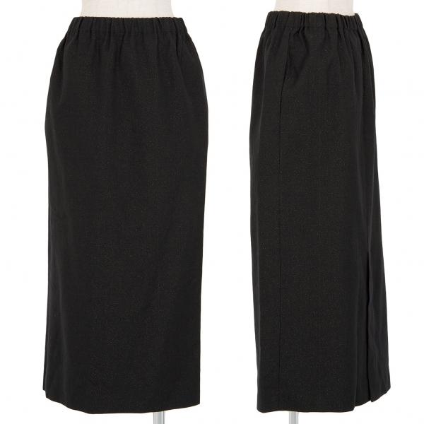 コムデギャルソンCOMME des GARCONS ラメウールスカート 黒M