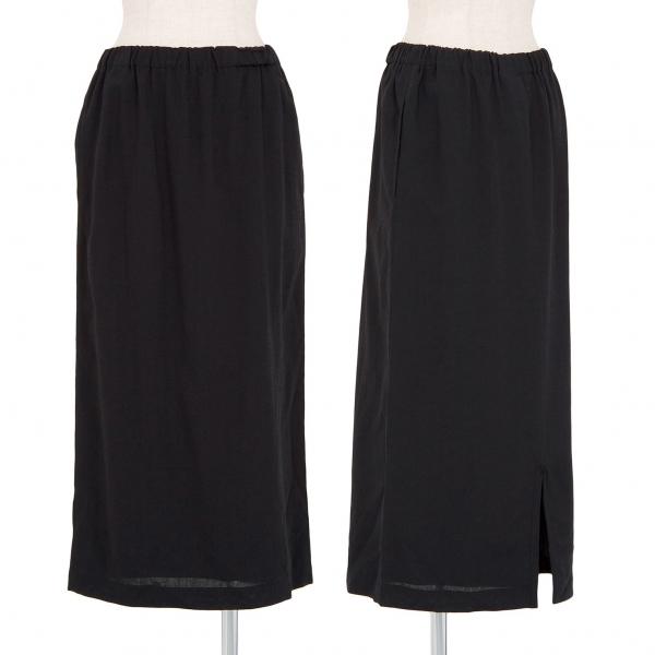 トリコ コムデギャルソンtricot COMME des GARCONS ウールAラインスカート 黒M位