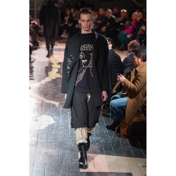 Yohji Yamamoto POUR HOMME High Neck Cotton Knit Sweater Black 3