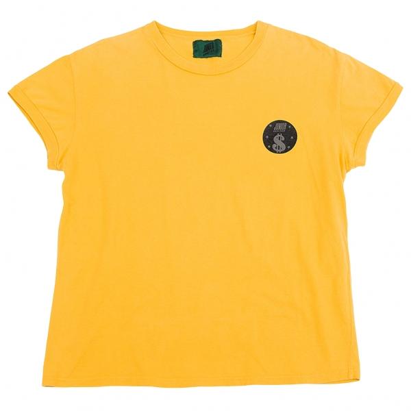 ジュニアゴルチエJUNIOR GAULTIER 胸ワンポイントプリントTシャツ 黄S
