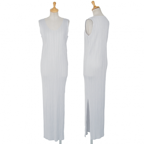 PLEATS PLEASE Sleeveless Maxi Dress Grey 4