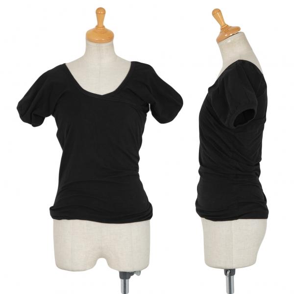 COMME des GARCONS Cross Design Stretch Balloon T Shirt Black S-M