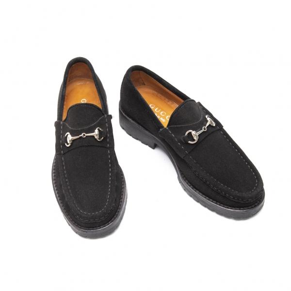 GUCCI Suede Loafer Black 35
