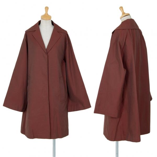gigli Cotton Nylon Striped Coat Bordeaux M(38)