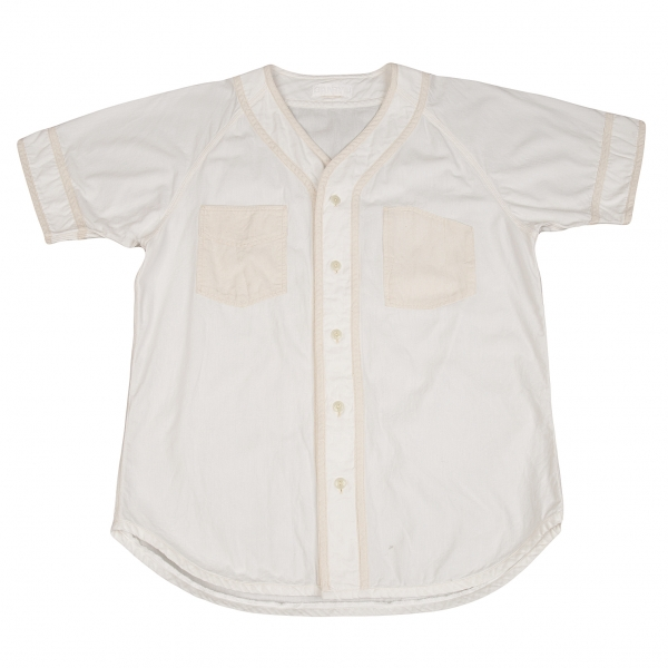 ガンリュウGANRYU ベースボールシャツ 白M位