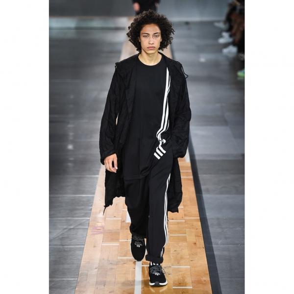 ワイスリーY-3 3ストライプTシャツ 黒2XL