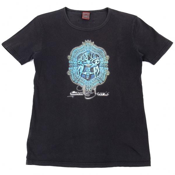 ゴルチエジーンズGAULTIER JEAN'S カーマスートラプリントTシャツ チャコール48