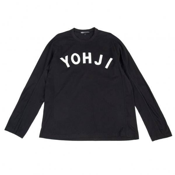 ワイスリーY-3 フロッキープリント長袖Tシャツ 黒XL