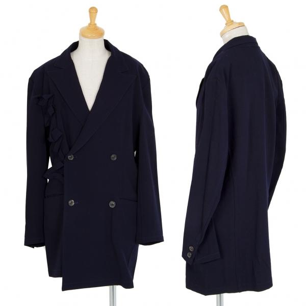 ワイズY's ウールテープ装飾デザインジャケット 紺M位