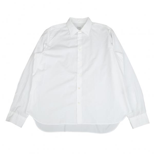 ジルサンダーJILSANDER コットンブロードベーシックシャツ 白45