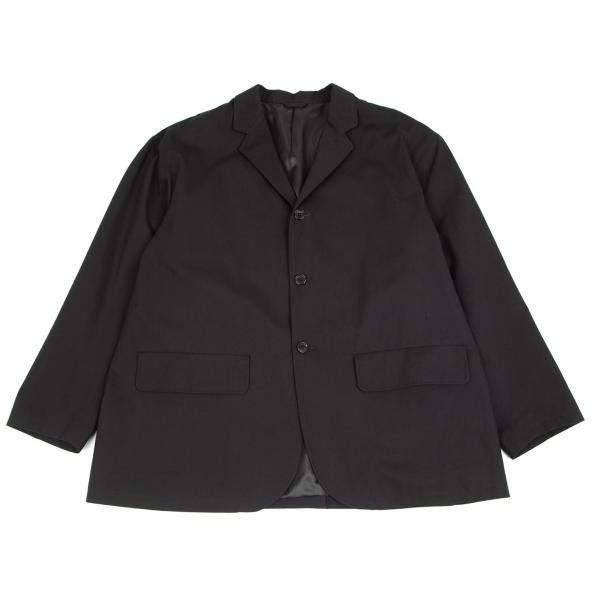 ビームスBEAMS コットンツイルイージーテーラードジャケット 黒XL
