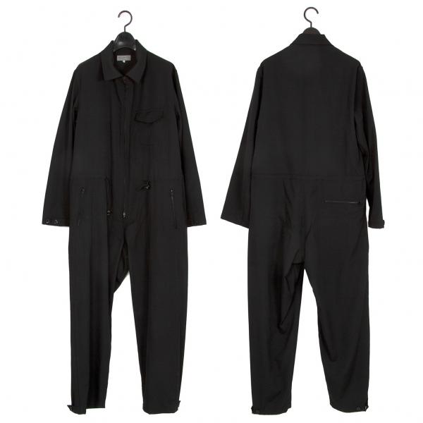 ヨウジヤマモト プールオムYohji Yamamoto POUR HOMME ウールギャバジャンプスーツ 黒2