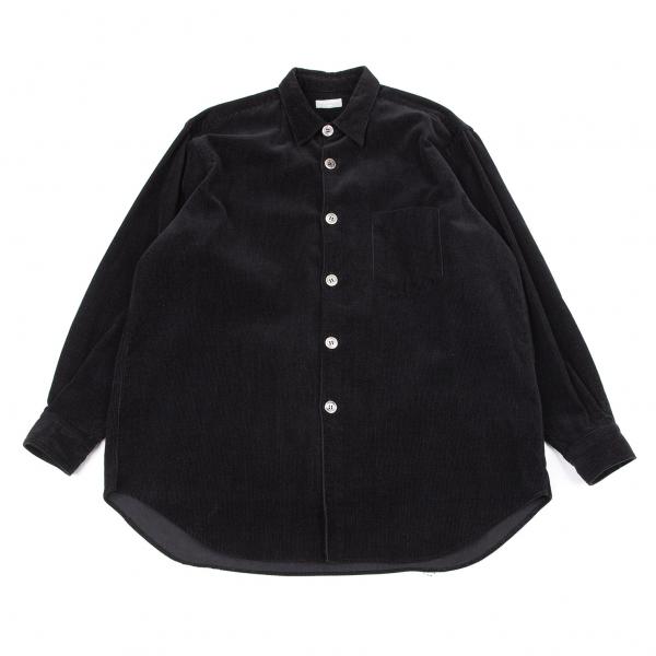 コムデギャルソン オムCOMME des GARCONS HOMME コーデュロイビッグボタンシャツ 黒L位