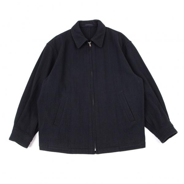 コムデギャルソン オムCOMME des GARCONS HOMME 刺し子織りスイングトップジャケット 濃紺M